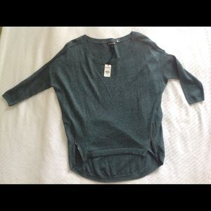 NWT Express Hi-Lo Sweater with Zipper detail,  XS